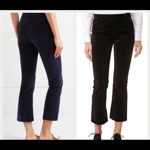 FRAME Atelier Women's Velvet Pants in Navy Size 30